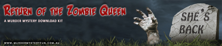 Return of the Zombie Queen - a murder mystery download game